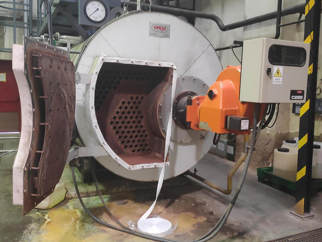 Reparación de caldera de vapor VALTEC - UMISA en Sevilla